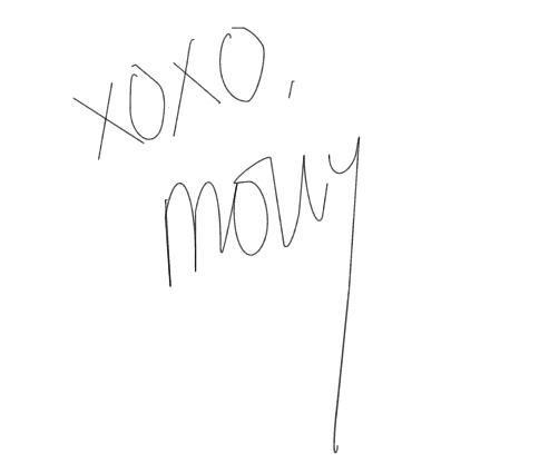 xoxo signature